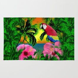 Palm Trees And Island Sunsets Rug