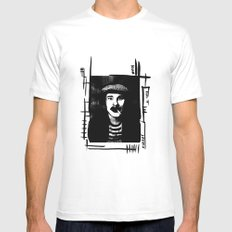 belle amour White MEDIUM Mens Fitted Tee