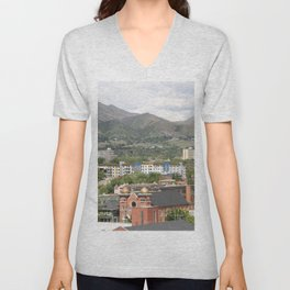 Salt Lake Skyline Unisex V-Neck
