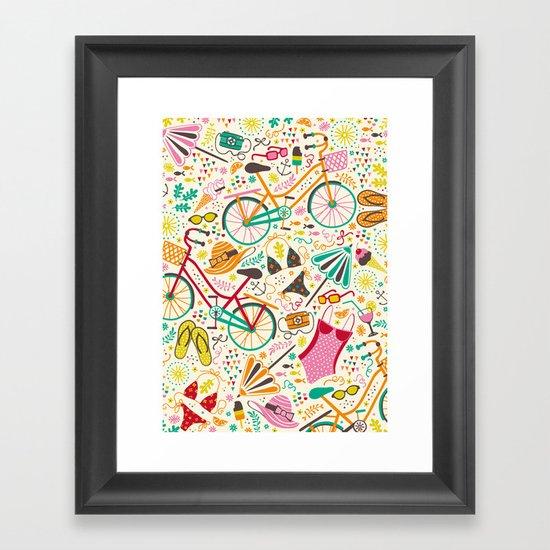 Seaside Cycle Framed Art Print