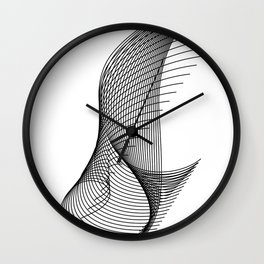 """""""Script Collection"""" - Minimal Letter I Print Wall Clock"""