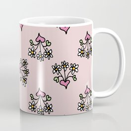 Little girl's pink hearts and daisy's Coffee Mug