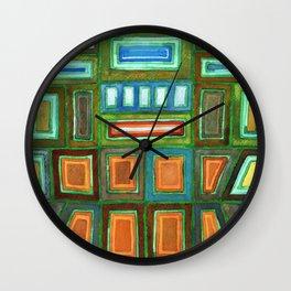 Beautiful Pattern with Silver glowing in the Dark Wall Clock