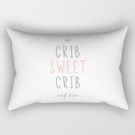 Crib Sweet Crib - Pink Rectangular Pillow