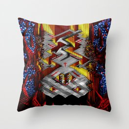 Marble Madness: Where Good Marbles Go To Die Throw Pillow