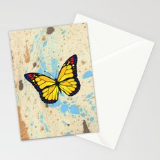 Yellow butterfly Stationery Cards