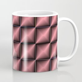 abstract pattern in  red, dark metal Coffee Mug