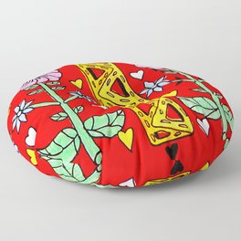Folk needlework Floor Pillow