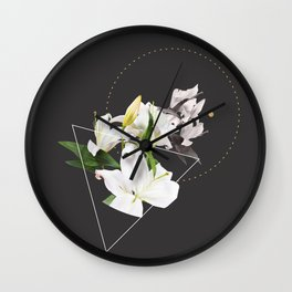 Tropical Flowers & Geometry II Wall Clock