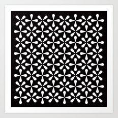 Asterisks pattern Art Print