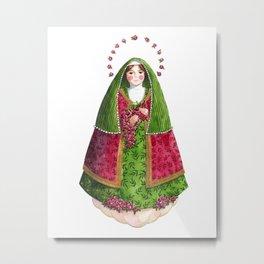 Saint Therese / Santa Teresinha (verde) Metal Print