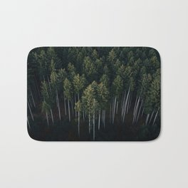 Aerial Photograph of a pine forest in Germany - Landscape Photography Bath Mat