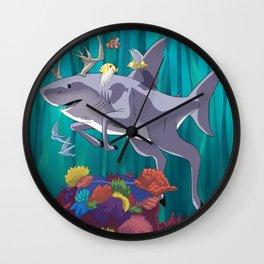 Sea Stag Wall Clock