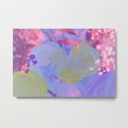 Kawaii Pretty Springtime Sparkle Metal Print