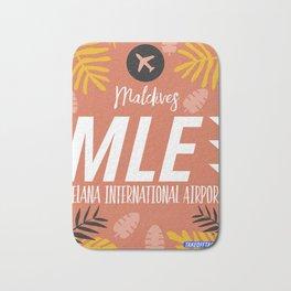 MLE Male Maldives airport code Bath Mat