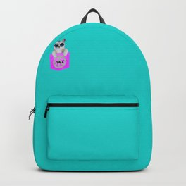 Cool Peace Cat Cats kitty kitten Design  Backpack