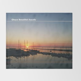 Chase Sunsets Throw Blanket