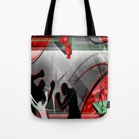 boxing Tote Bags featuring Boxing by Robin Curtiss