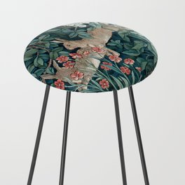 William Morris Forest Rabbits and Foxglove Counter Stool