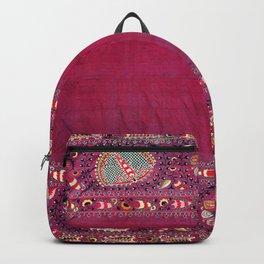 Shakhrisyabz  Southwest Uzbekistan Suzani Embroidery Print Backpack