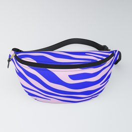 Zebra blue and pink pattern Fanny Pack
