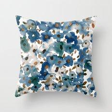 Georgia Floral Blue Throw Pillow