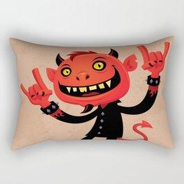 Heavy Metal Devil Rectangular Pillow