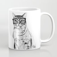 meow Mugs featuring Mac Cat by florever
