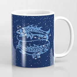 Pisces Constellation and Zodiac Sign with Stars Coffee Mug