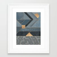 nordic Framed Art Prints featuring Nordic Blue by Elisabeth Fredriksson