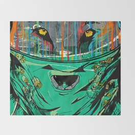 Wolf Mother - Screen Print Edition  Throw Blanket