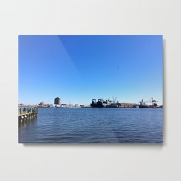 Baltimore harbor in the morning | Fed Hill | Maryland Metal Print