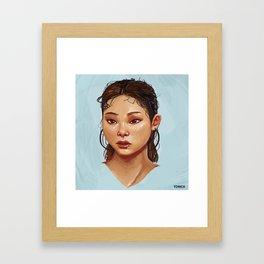 Red Eyes Portrait Framed Art Print