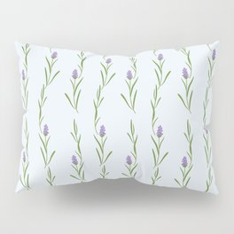 Modern artistic pastel blue lavender watercolor floral pattern Pillow Sham