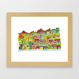 Casinhas Framed Art Print