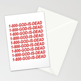 1-800-GOD-IS-DEAD Stationery Cards