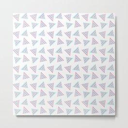Pink Cyan Pattern Metal Print