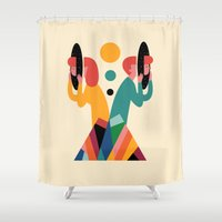 lost Shower Curtains featuring Lost by Andy Westface