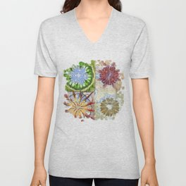 Bepainted Concrete Flower  ID:16165-003711-19651 Unisex V-Neck