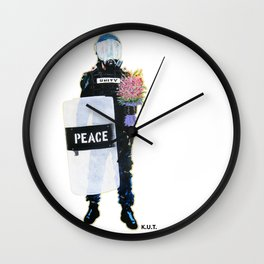 Peace Officer Movement By K.U.T. Wall Clock