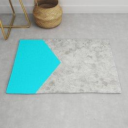 Geometric Concrete Arrow Design - Neon Blue #504 Rug