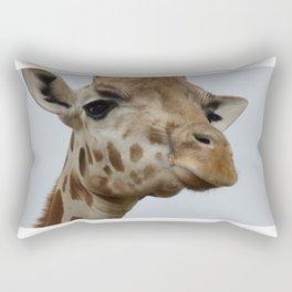 Giraffe Looking Down Rectangular Pillow