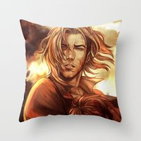 battlefield Throw Pillows featuring Battlefield by SirWendigo