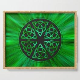 Celtic Knot Star Flower Serving Tray