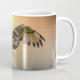 Sunshine Owl In Mid-Flight Coffee Mug