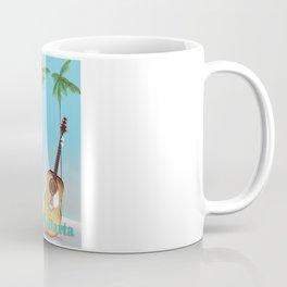 Puerto Vallarta Mexico travel poster art. Coffee Mug