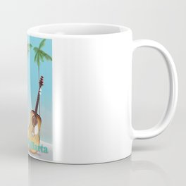 Puerto Vallarta Mexico travel poster art. Coffee Mug