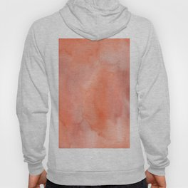 Abstract hand painted terracotta watercolor Hoody