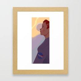 Nasa Girl Framed Art Print