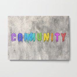 Community Paint Metal Print